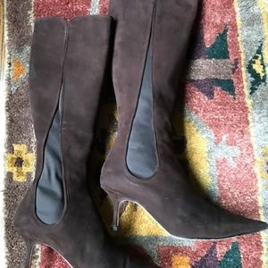 Jimmy Choo tall brown suede leather boots